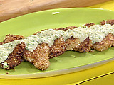 Almond Crusted Chicken Cutlets with Scallion Beurre Blanc