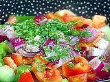 Macho Gazpacho Vegetable Chunk Salad