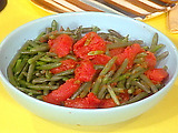 Green Beans and Stewed Tomatoes