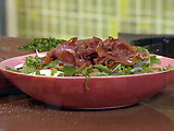 Earthy Portobello Salad with Prosciutto