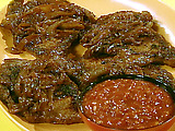 Delmonico Steaks with Balsamic Onions and Steak Sauce