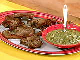 Lamb Chops with Mint and Mustard Dipping Sauce