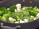 Orange-Scented Broccoli and Cauliflower