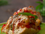 Ciabatta Pizza with Squash Caponata