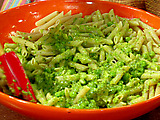 Spring Pea-sto with Whole-Wheat Penne