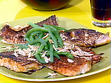 Grilled Spanish-Style Snapper with Tomato and Green Olive Salsa