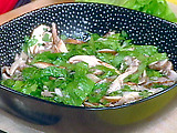 Wild About You Salad: Wild Mushroom Salad with Thyme and Heart of Romaine