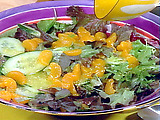 Mixed Baby Greens Salad with Mandarin Oranges