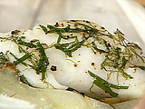 Cod in a Sack with Fennel and Onion