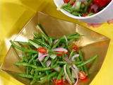 """Eat Your Vegetables!"": Green Bean Salad with Red Onion and Tomato"