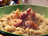 Beer Braised Shrimp with Louisiana Salsa and Rice