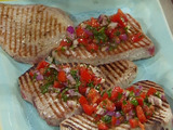 Tuna Steaks with Tomato and Basil Raw Sauce