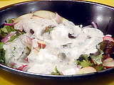 Radish, Apple and Onion Salad