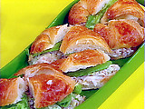 Acadian-Style Crab Salad on Croissants