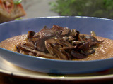 Roasted Mushrooms with Pumpkin-Chipotle Polenta