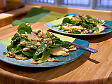 Arugula and Pear Salad with Dijon Sherry Vinaigrette