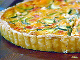 Easy Zucchini, Tomato, and Cheese Tart