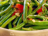 Basil and Tomato Green Beans