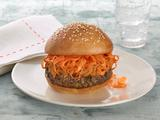 Herbed Burgers with Spicy Peanut Sauce