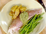 Whole Red Snapper Baked in Salt