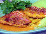 Pan-fried Red Snapper Fillet with Corn Cream Creole Sauce