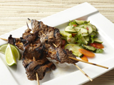 Beef Satay with Pickled Cucumber Salad