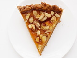 Amaretto Pumpkin Pie With Almond Praline