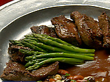 Grilled Hanger Steak with Mushroom Demi-Glace