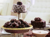 Mini Chocolate Cake Centerpieces