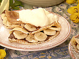 Chocolate-Banana Filled Crepes