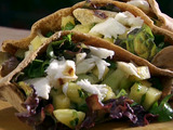 Citrus Grilled Halibut with Cucumber Pineapple Salsa in a Whole-Wheat Pita Pocket