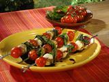 Insalata Caprese Kabobs with Balsamic Vinegar Reduction and Eros Pista Paste