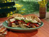 Wild Wahoo Gourmet Sandwiches with Rum Pear Spinach Salad