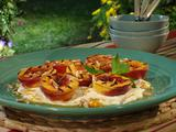 Grilled Nectarines with Honey-Orange Ricotta Whipped Cream and Toasted Almonds