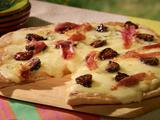 Four Cheese Pizza with Fig and Prosciutto