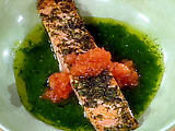 Herb-Crusted Sauteed Salmon Fillets with Pistou