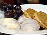Peanut Butter Cookies with Grape Jelly Ice Cream