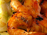 Grilled Shrimp with Grapefruit BBQ Sauce
