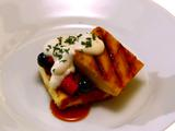 Grilled Pound Cake with Drunken Berries and Syllabub