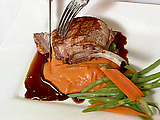 Grilled Berkshire Pork Chop with Merlot Sauce