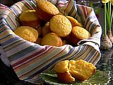Sour Cream and Lemon Honey Corn Muffins