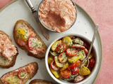 Salmon Rillettes With Tomato Salad