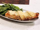 French Onion Soup Topped French Bread Pizzas and Salad with Dijon Vinaigrette