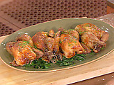Roast Cornish Hens Stuffed with Oyster Dressing