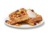 Waffles With Pear-Cherry Compote