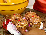 Buttermilk Cupcakes with Chocolate Icing