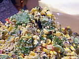 "Grilled Corn ""Salsa"" with Blue Corn Tortilla Chips"