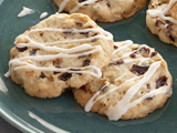 Dried Cherry and Almond Cookies with Vanilla Icing