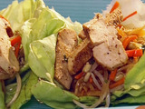 Spicy Szechuan Chicken Lettuce Wraps