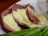 Lobster-Stuffed Beef Tenderloin with Bearnaise Sauce